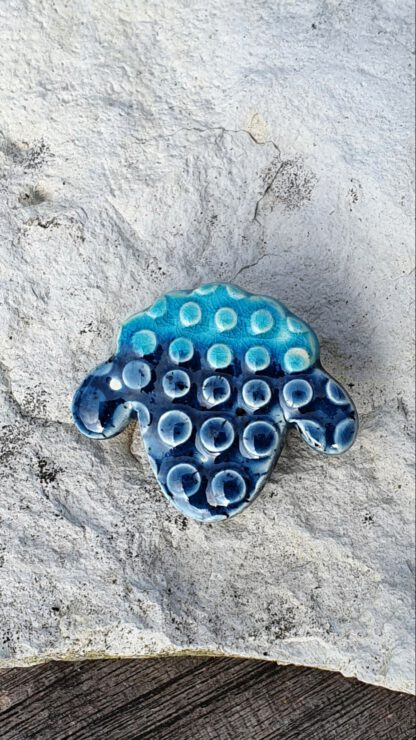 Schafkopf blau noppen
